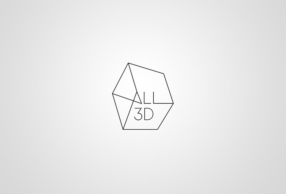 All3D logo outline