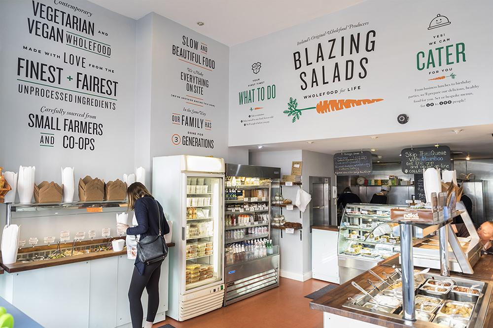 Blazing Salads walls