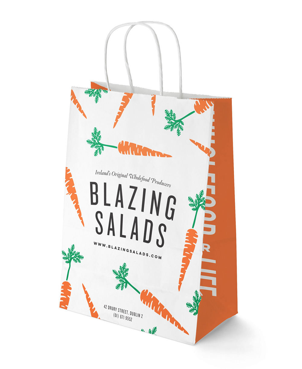Blazing Salads bag